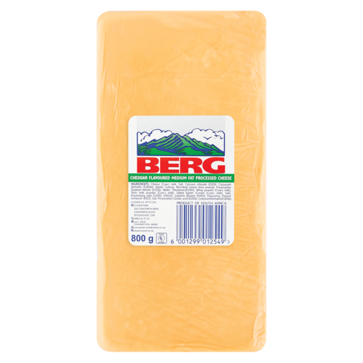 Berg Processed Cheddar Cheese Pack 800g
