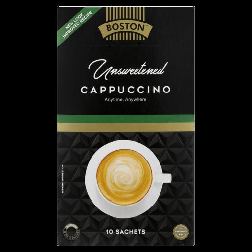 Boston Unsweetened Cappuccino Sachets 10 Pack