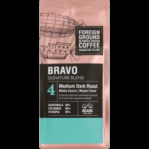 Foreign Ground Bravo Signature Blend Medium Dark Roast Coffee Beans 250g