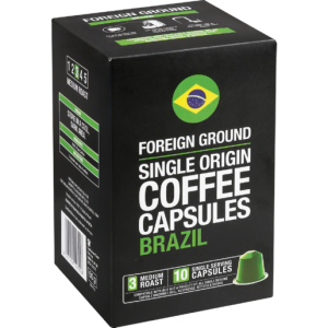 Foreign Ground Brazil Coffee Capsules 10 Pack