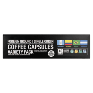 Foreign Ground Coffee Capsules Variety Pack 40 Pack