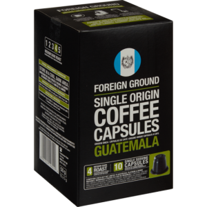 Foreign Ground Guatemala Coffee Capsules 10 Pack 50g