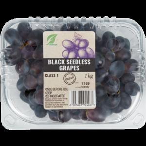 Black Seedless Grapes Pack 1kg