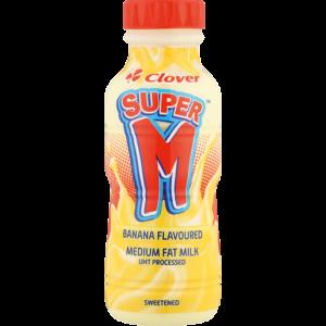 Clover Super M Banana Flavoured Milk 300ml