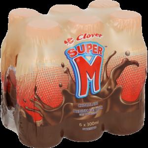 Clover Super M Chocolate UHT Flavoured Milk 6 x 300ml