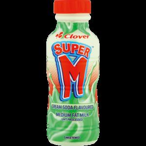 Clover Super M Cream Soda Flavoured Milk 300ml