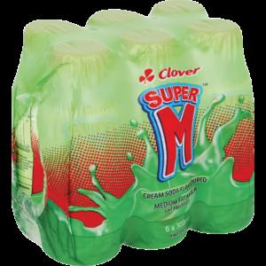 Clover Super M Cream Soda UHT Flavoured Milk 6 x 300ml