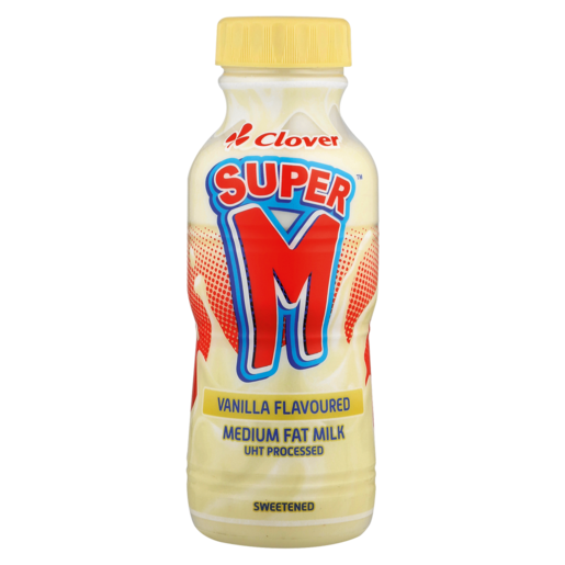 Clover Super M Vanilla Flavoured Medium Fat Milk 300ml