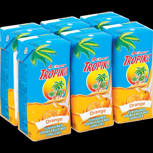 Clover Tropika Long Life Orange Dairy Blend 6 x 200ml