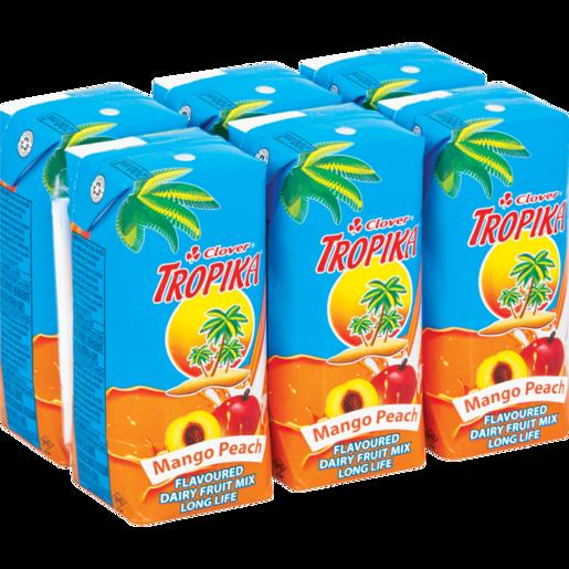 Clover Tropika Long Life Peach & Mango Dairy Blend 6 x 200ml