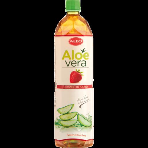 Aleo Aloe & Strawberry Flavoured Water 1.5L