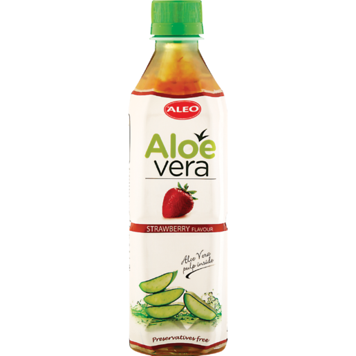 Aleo Aloe & Strawberry Flavoured Water 500ml