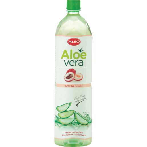 Aleo Aloe Vera & Lychee Flavoured Water 1.5L