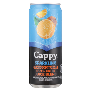 Cappy Sparkling Mango Orange Flavoured Fruit Juice Can 330ml