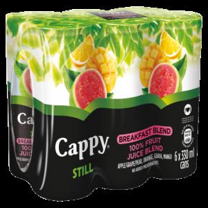 Cappy Still 100% Fruit Breakfast Juice Blend Cans 6 x 330ml