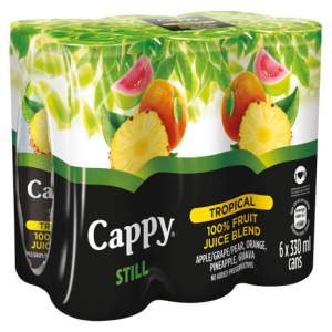 Cappy Still 100% Fruit Tropical Juice Blend Cans 6 x 330ml