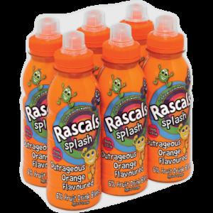 Rascals Splash Orange Flavoured Drink Bottles 6 x 300ml