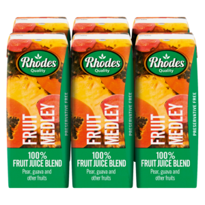 Rhodes 100% Fruit Medley Fruit Juice Blend 6 x 200ml