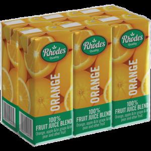 Rhodes 100% Orange Fruit Juice Blend Cartons 6 x 200ml