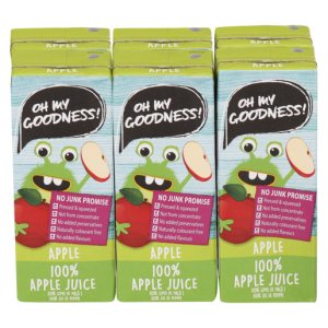 Oh My Goodness! Apple 100% Fruit Juice Blend Box 6 x 200ml
