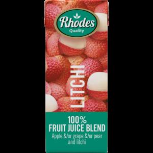 Rhodes 100% Litchi Fruit Juice Blend Carton 200ml