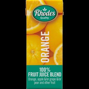 Rhodes 100% Orange Fruit Juice Blend Carton 200ml