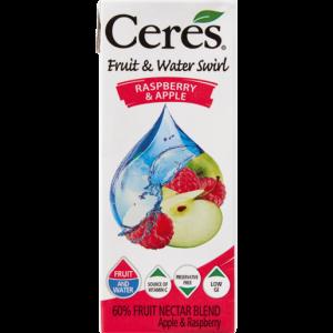 Ceres Raspberry & Apple Water Swirl Carton 200ml
