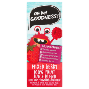Oh My Goodness! 100% Mixed Berry Fruit Juice Blend 200ml