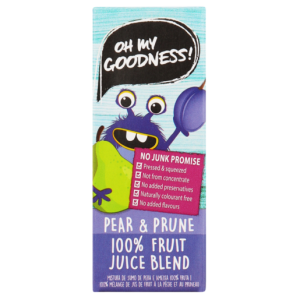 Oh My Goodness! 100% Pear & Prune Fruit Juice Blend 200ml