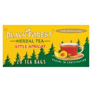 Black Forest Apple & Apricot Black Laxative Teabags 20 Pack