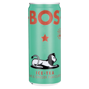 Bos Lime & Ginger Flavoured Ice Tea Can 330ml