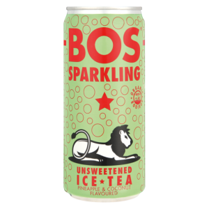 Bos Pineapple & Coconut Flavoured Sparkling Ice Tea Can 300ml