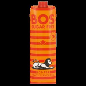 Bos Sugar Free Peach Flavoured Ice Tea Carton 1L