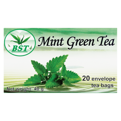 BST Mint Flavoured Green Teabags 20 Pack