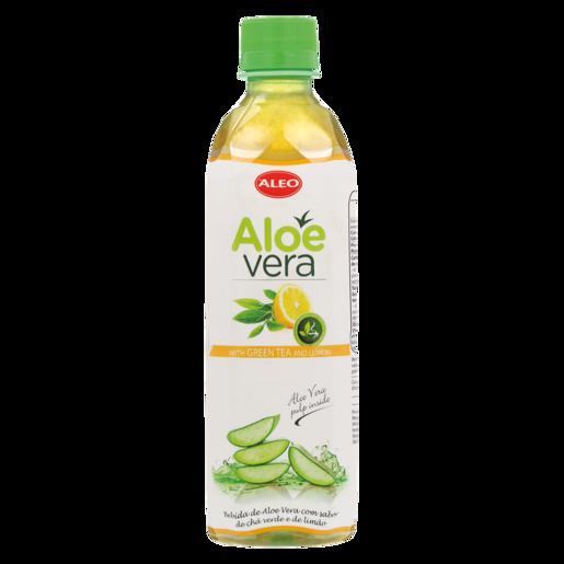 Aleo Aloe Vera Water With Green Tea & Lemon 500ml