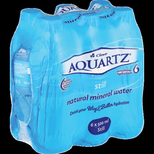 Aquartz Still Water Bottles 6 x 500ml