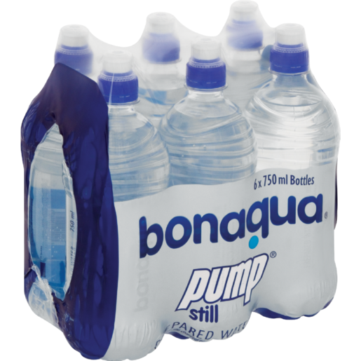 Bonaqua Pump Still Water Bottles 6 x 750ml