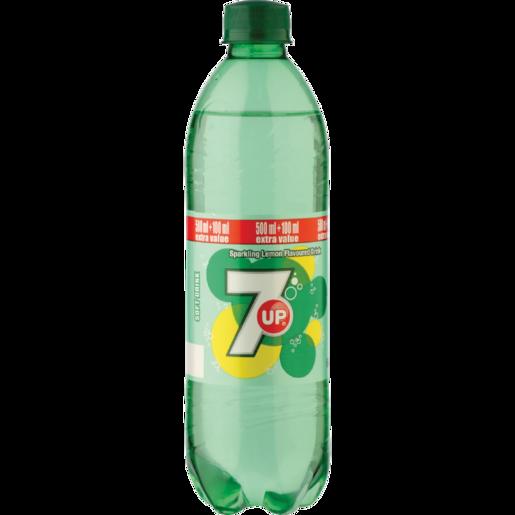 7 Up Lemon Flavoured Soft Drink Bottle 600ml