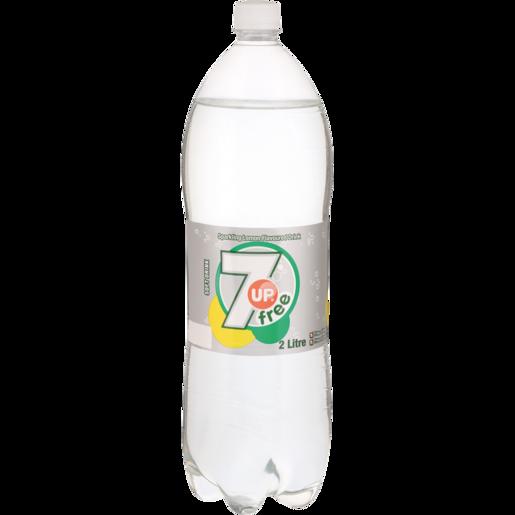 7 Up Original Sugar Free Soft Drink Bottle 2L