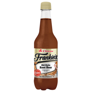 Clover Frankie's Old Style Root Beer Flavoured Sparkling Soft Drink 400ml