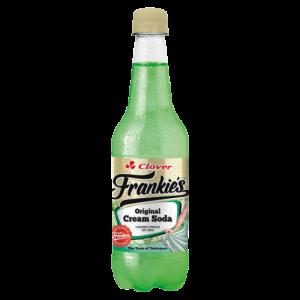 Clover Frankie's Original Cream Soda Flavoured Sparkling Soft Drink 400ml