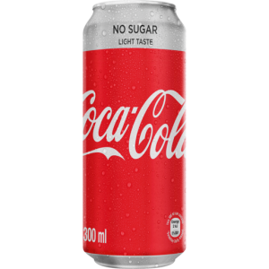 Coca-Cola Light No Sugar Soft Drink Can 300ml