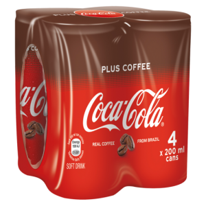 Coca-Cola Sparkling Soft Drink With Coffee Cans 4 x 200ml