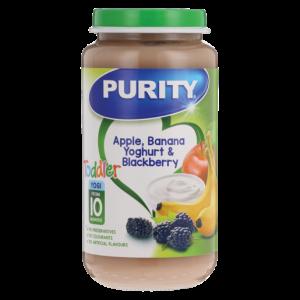 Purity Apple, Banana, Yoghurt & Blackberry Baby Food 250ml