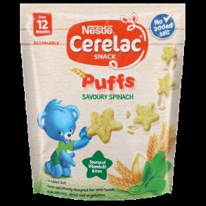 Nestle Cerelac Savoury Spinach Puffs 50g