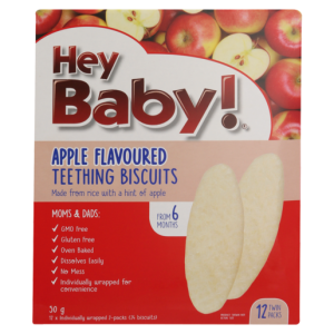 Hey Baby! Apple Flavoured Teething Biscuits 50g