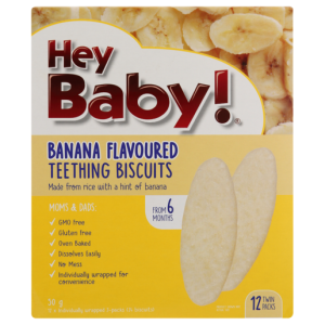 Hey Baby! Banana Flavoured Teething Biscuits 50g