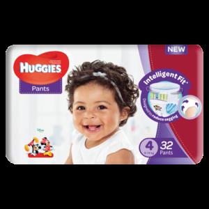 Huggies Unisex Size 4 Diaper Pants 32 Pack