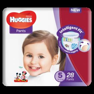 Huggies Unisex Size 5 Diaper Pants 28 Pack