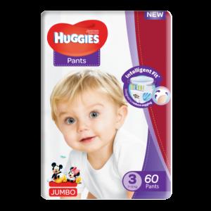 Huggies Size 3 Jumbo Diaper Pants 60 Pack